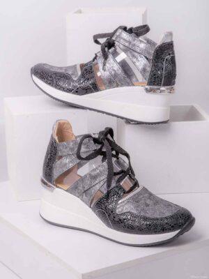 Zapatos de mujer de cuero. Zapatillas altas. Piscis Shoes.